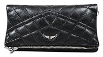 Zadig & Voltaire Leather Black Clutch