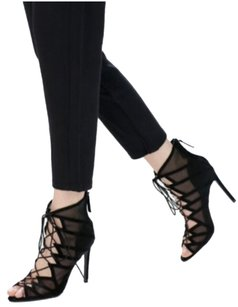 Zara Bootie Lace Up Sandal black Sandals