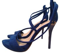 Zara Strappy Stiletto Pump BRIGHT BLUE Sandals