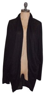 Zara Cowl Pockets Draped Cardi Sweater Open Front Cardigan