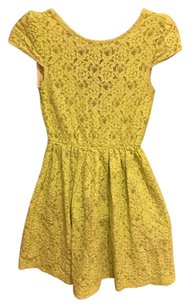 Zara short dress Lime Green on Tradesy