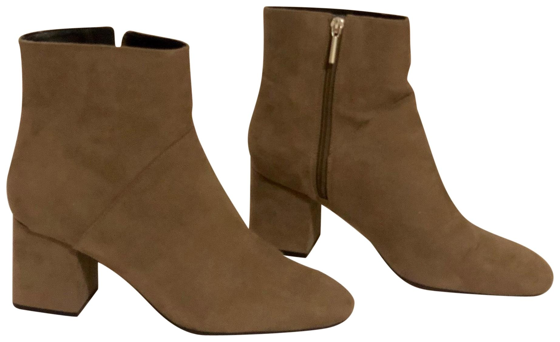 0a2d5190bbc Zara Grey Suede Mid-heel Ankle Boots Booties Boots Booties Boots Booties