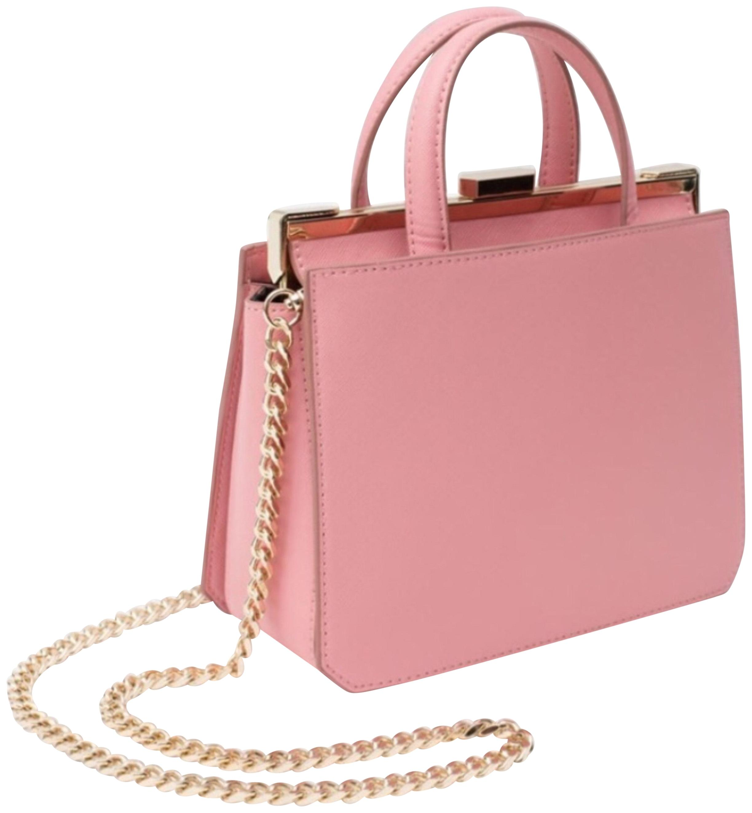Pink faux leather shoulder bag Q3rf92