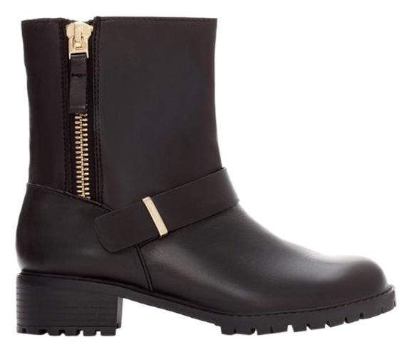 Zara leather motocycle boots 6