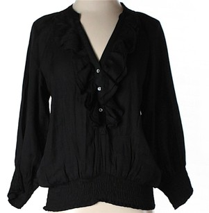 Zara Ruffle Top Black
