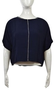 Zara Basic Womens Top Navy